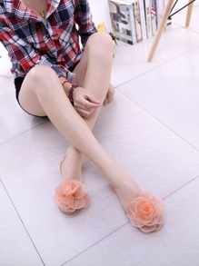 Flower Decor Transparent Flats