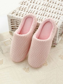 Plain Round Toe Slippers