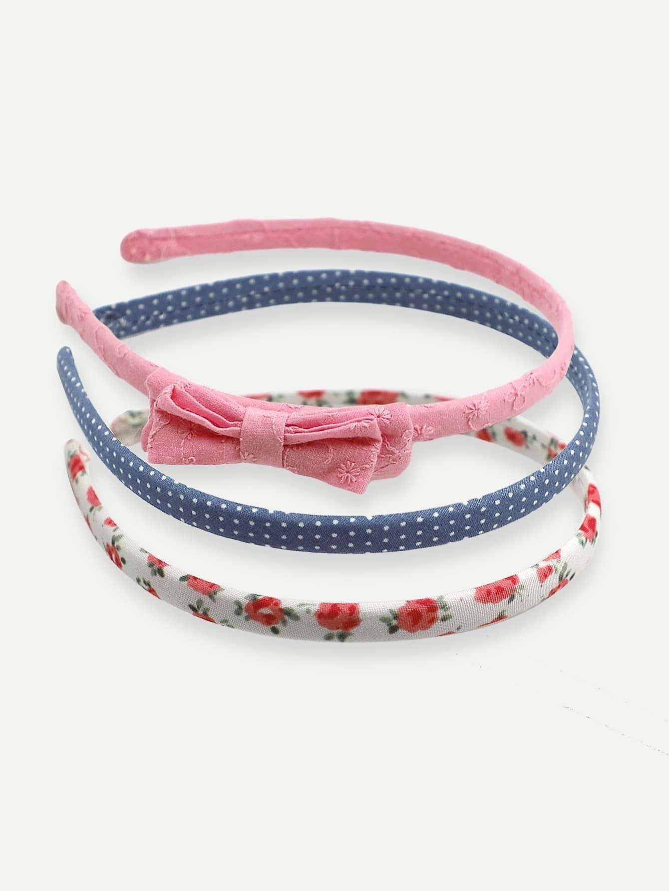 Mädchen Calico Muster Stirnband 3pcs- German SheIn(Sheinside)