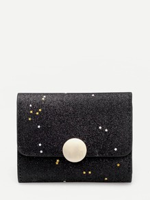 Star Detail Flap Purse