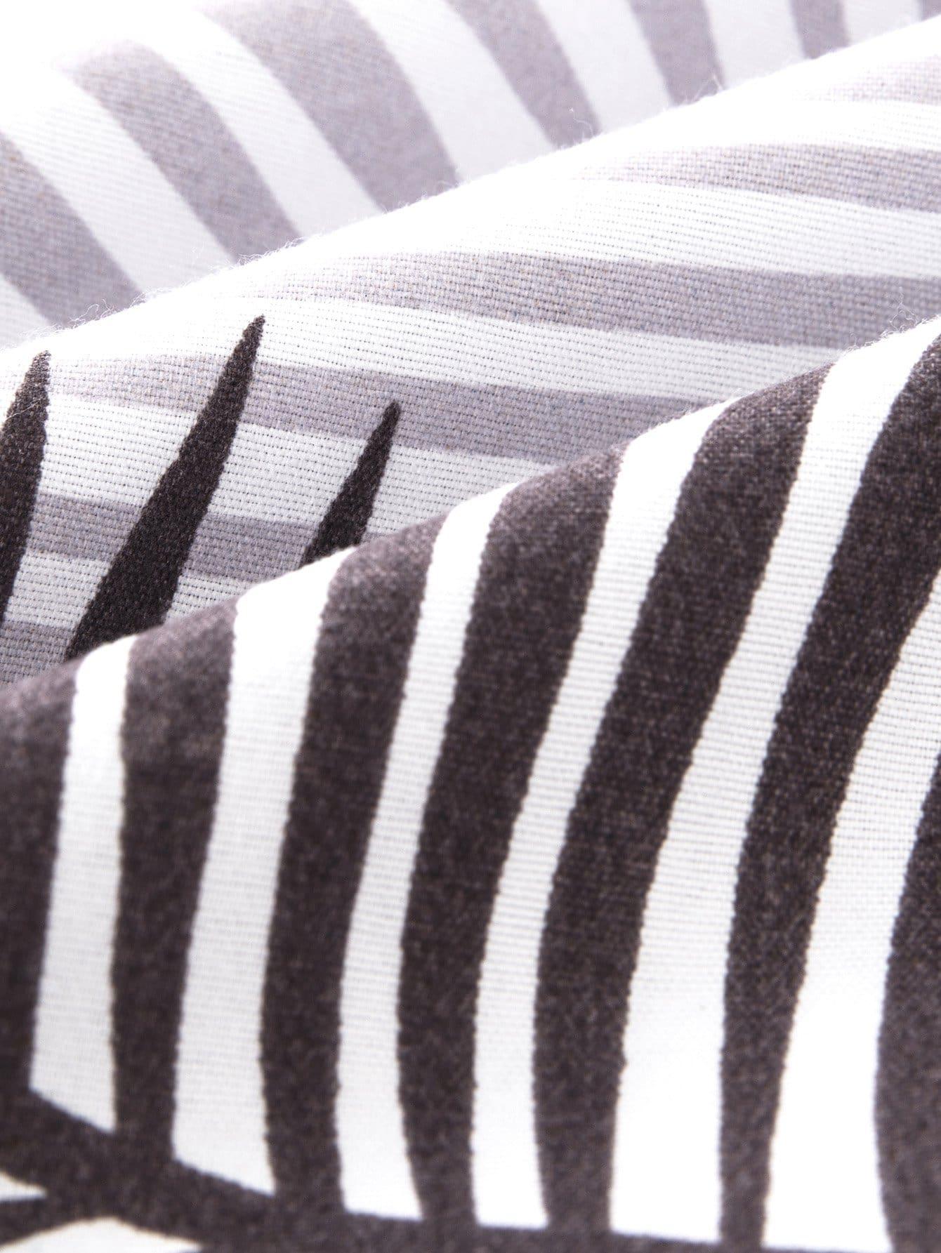 bettlaken set mit stamm muster german shein sheinside. Black Bedroom Furniture Sets. Home Design Ideas