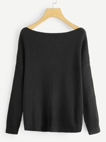 Ribbed Solid Jumper
