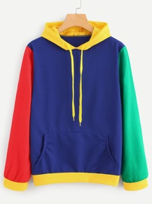 Cut And Sew Panel Hoodie