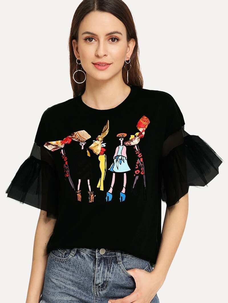 Dibujos Mangas Y Con Camiseta Volantes En Las vO8Nymn0w