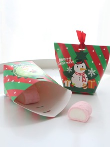 Christmas Snowman Print Candy Box 10pcs