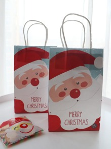 Christmas Santa Claus Paper Bag 5pcs