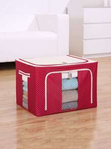 Polka Dot Print Storage Box
