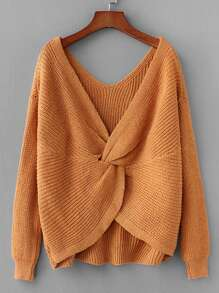 Twist Back Drop Shoulder Jumper
