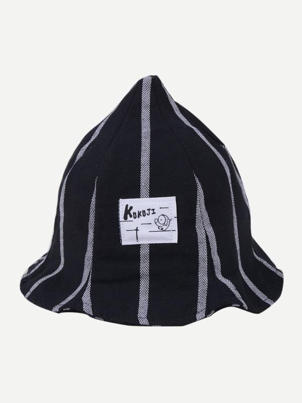 Secchio cappello da bambini con toppa di cartone animato shein