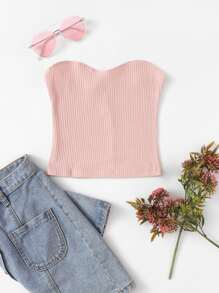 Ribbed Skinny Tube Top