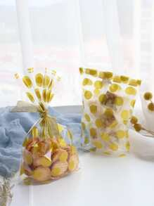 Polka Dot Print Clear Bag 100pcs