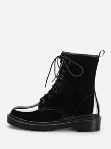 Lace-Up Martin Boots