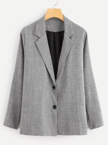 Single Breasted Solid Blazer