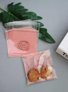 68b4e3bced2 Floral   Rabbit Print Packaging Bag 100pcs