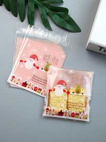 Christmas Print Packaging Bag 100pcs