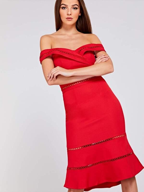 55fde1804129 Cheap Circle Trim Cut Out Dress for sale Australia | SHEIN