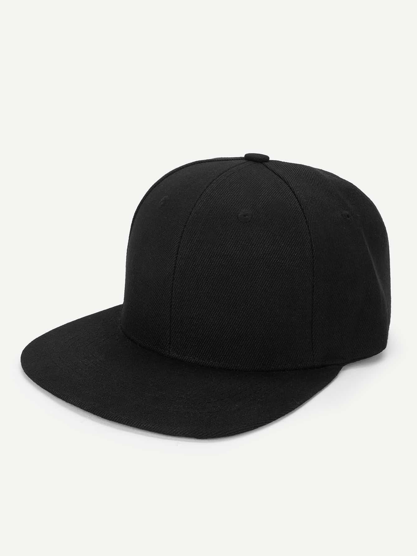 Men Plain Snap Cap