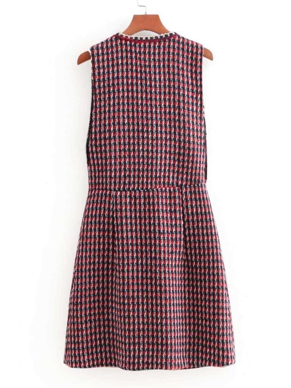 c5c7f5aff5c Cheap Whipstitch Trim Button Through Tweed Dress for sale Australia ...
