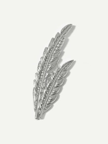 Double Feather Shaped Brooch
