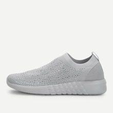 - Low Top Slip On Knit Sneakers