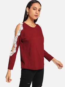 Contrast Lace Tee