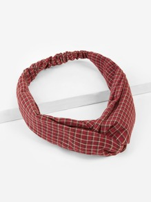 Twist Plaid Headband