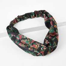 Twist Elastic Floral Headband