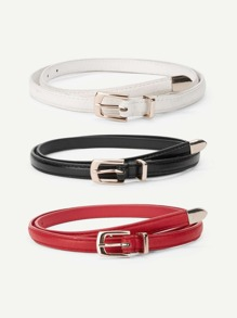 Metal Buckle Belt 3pcs