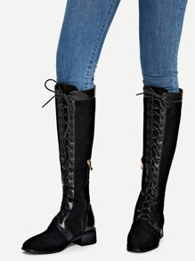 Lace-Up Front Boots