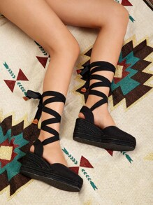 Lace-Up Two Part Wedges
