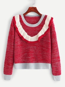 Ruffle Decoration Jumper