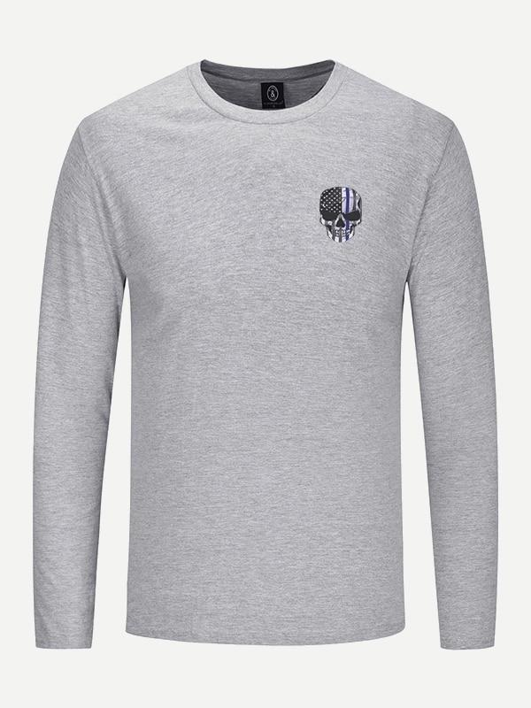 Shirt Homme Homme Tee Tee Shirt Squelette Imprimé n0wkX8PNO