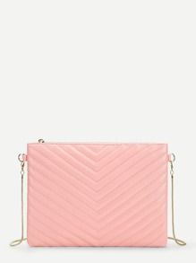 Chevron Chain Clutch Bag