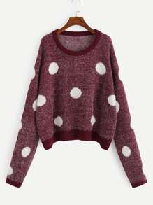 Plus Polka Dot Fuzzy Jumper