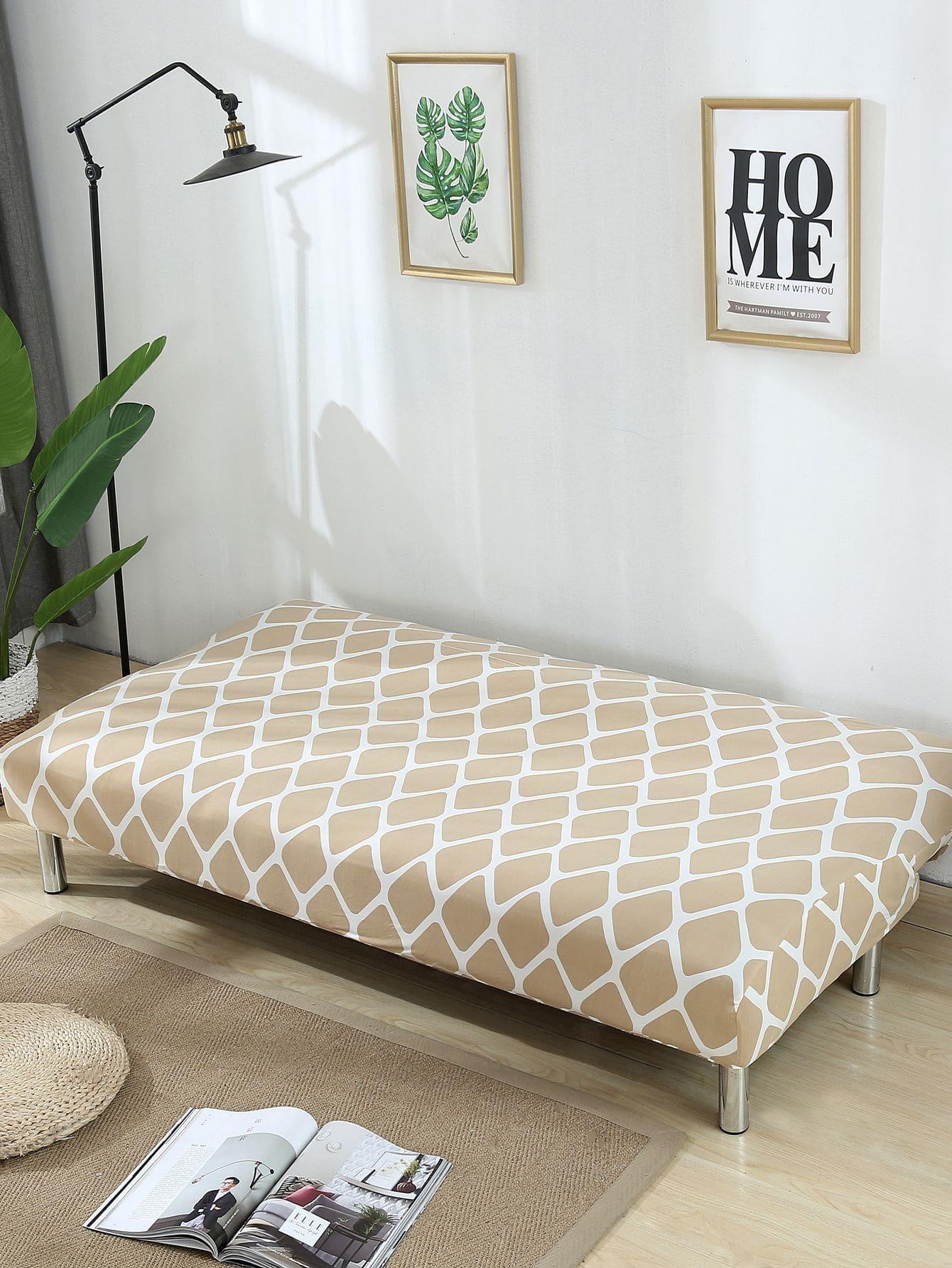 housse de canap lit extensible carreau romwe. Black Bedroom Furniture Sets. Home Design Ideas