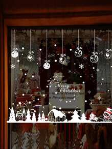 Christmas Graphic Print Wall Sticker