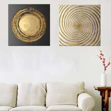 INOpets.com Anything for Pets Parents & Their Pets Spiral Pattern Wall Art 2pcs