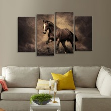 INOpets.com Anything for Pets Parents & Their Pets Horse Print Wall Art 4pcs