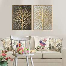 Branch Pattern Wall Art 2pcs