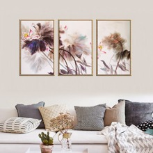 INOpets.com Anything for Pets Parents & Their Pets Flower Print Wall Art 3pcs