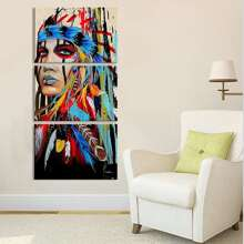 Figure Print Wall Art 3pcs