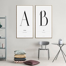 Letter Pattern Wall Art 2pcs