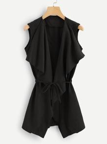 Self Tie Solid Coat