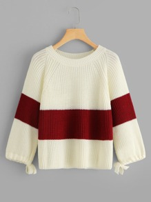 Knot Two Tone Jumper