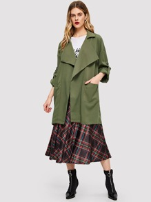 Pocket Front Waterfall Solid Coat