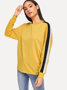 Color Block Tunic Pullover