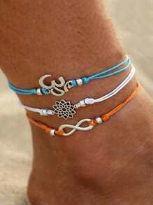 Lotus & Infinite Anklet 3pcs