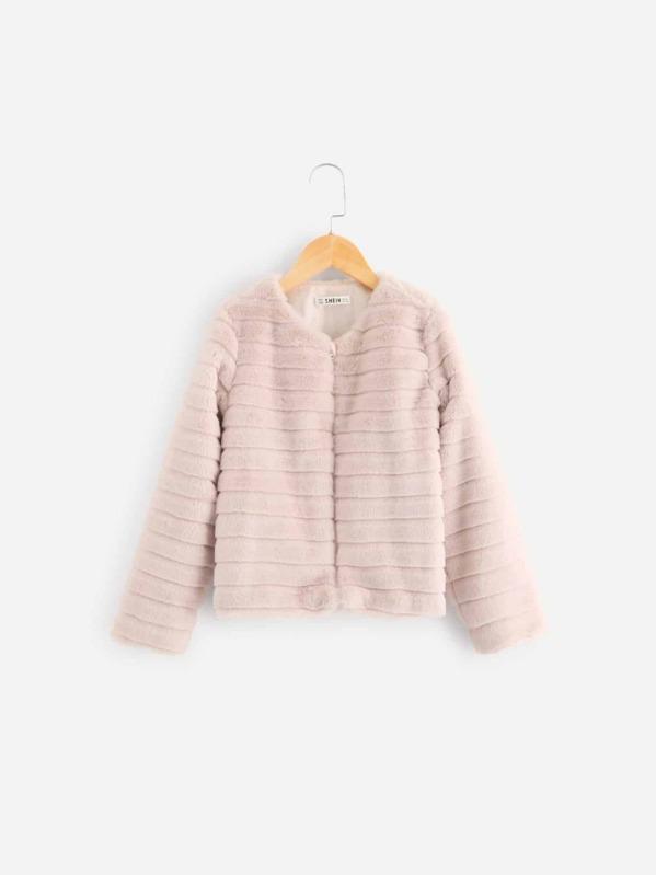 f1d77e821 Girls Zip Up Fleece Teddy Coat | SHEIN UK