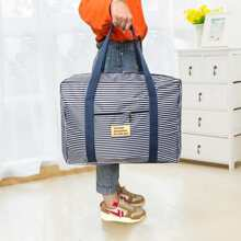 Striped Pattern Travel Luggage Storage Bag