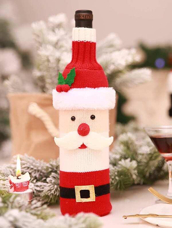 Christmas In Australia Santa.Christmas Santa Claus Wine Bottle Cover